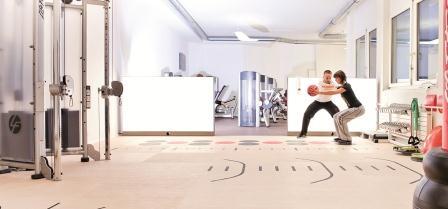 Functional zone pavimenti serigrafati acm riabilitazione ergonomia fitness - Creare una palestra in casa ...